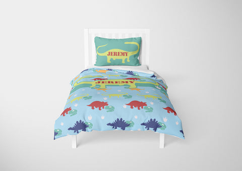 personalized full bed with dinosaur comforter and duvet