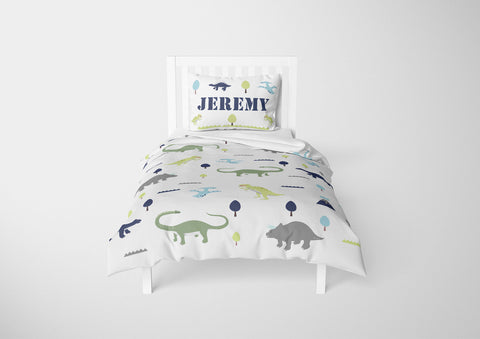 personalized dinosaur bedding set for twin bed and comforter