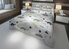 Image of personalized dinosaur bedding set for king bed and comforter