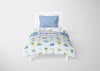 Image of dinosaur boys bedding set thats personalized for twin