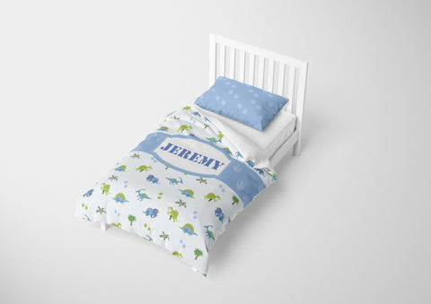 Dinosaur Party #7 Boys Bedding Set Comforter & Duvet -Twin,Full,Toddler,Queen