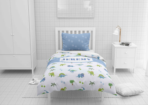 dinosaur boys bedding set thats personalized for twin xl