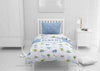 Image of dinosaur boys bedding set thats personalized for twin xl