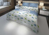 Image of dinosaur boys bedding set thats personalized for king bed
