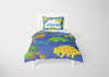 Image of custom dinosaur twin bedding set with comforter