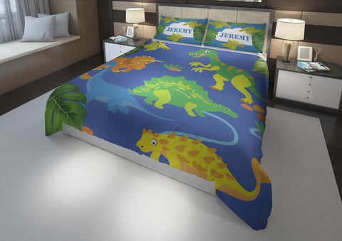 custom dinosaur king bedding set with comforter