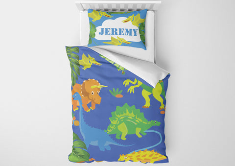 custom dinosaur toddler bedding set with comforter