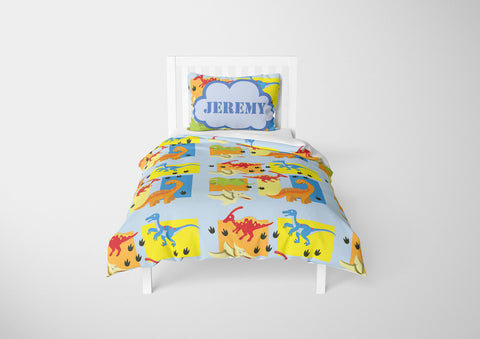 custom dinosaur boys bedding twin xl set and comforter