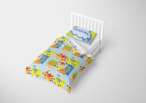 custom dinosaur boys bedding full set and comforter