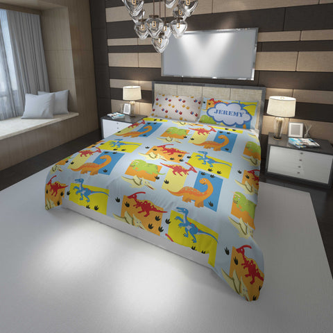 custom dinosaur boys bedding queen bed set and comforter