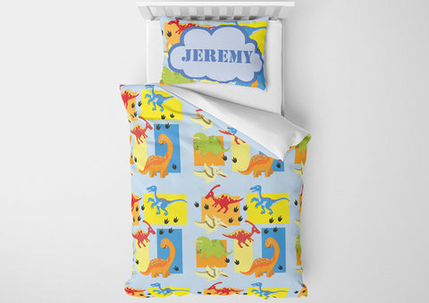 custom dinosaur boys bedding toddler set and comforter