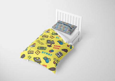 personalize video game bedding set with comforter for twin bed