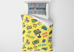 personalize video game bedding set with comforter for full bed