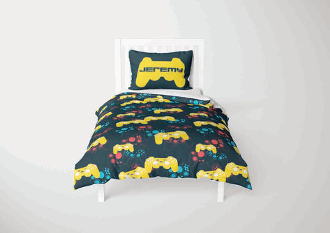 custom video gaming comforter bedding set for full bed