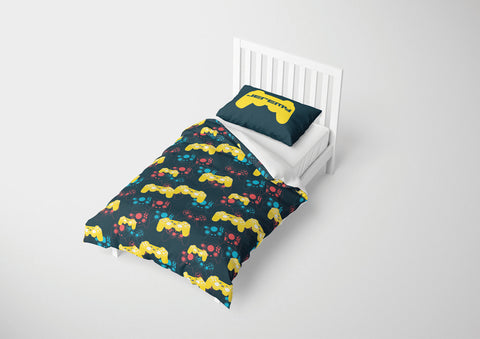 custom video gaming comforter bedding set for twin bed