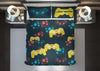 Image of personalized video gaming comforter bedding set for king bed