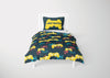 Image of custom video gaming comforter bedding set for full size bed