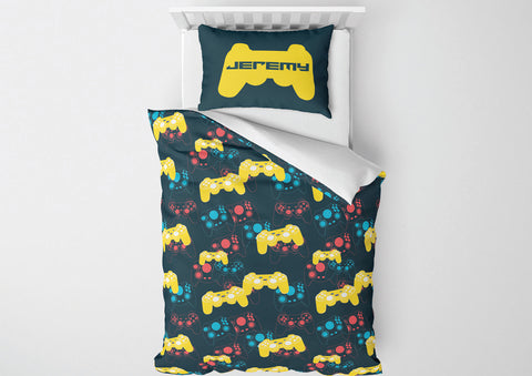 Video Game Controllers #2 Boys Bedding Set Comforter & Duvet -Twin,Full,Toddler,Queen