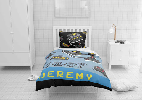 personalized videogamer comforter bedding set for toddler bed