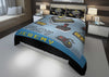 Image of personalized videogamer comforter bedding set for king bed