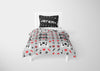 Image of personalized videogaming bedding set for boys full bed