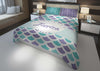 Image of personalize mermaid queen bedding set for girls