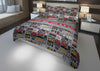 Image of personalized boys comforter bedding set for queen bed with video gamer theme