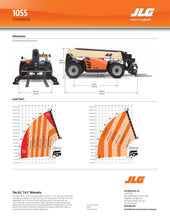 Load image into Gallery viewer, 55 ft, 10,000 lb, Diesel, Telehandler For Rent