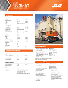 40 ft, Gas/Diesel, Dual Fuel, Telescopic Boom Lift For Sale