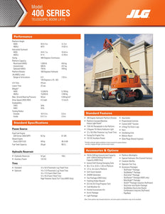 40 ft, Gas/Diesel, Dual Fuel, Telescopic Boom Lift For Rent