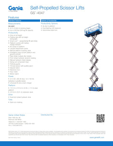 40 ft, Electric, Scissor Lift For Sale