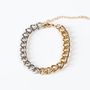 One+Beau Layering Bracelet - DUO CHAIN