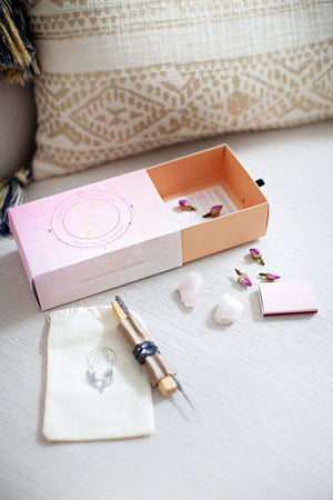 Connection Ritual Kit with Rose Quartz