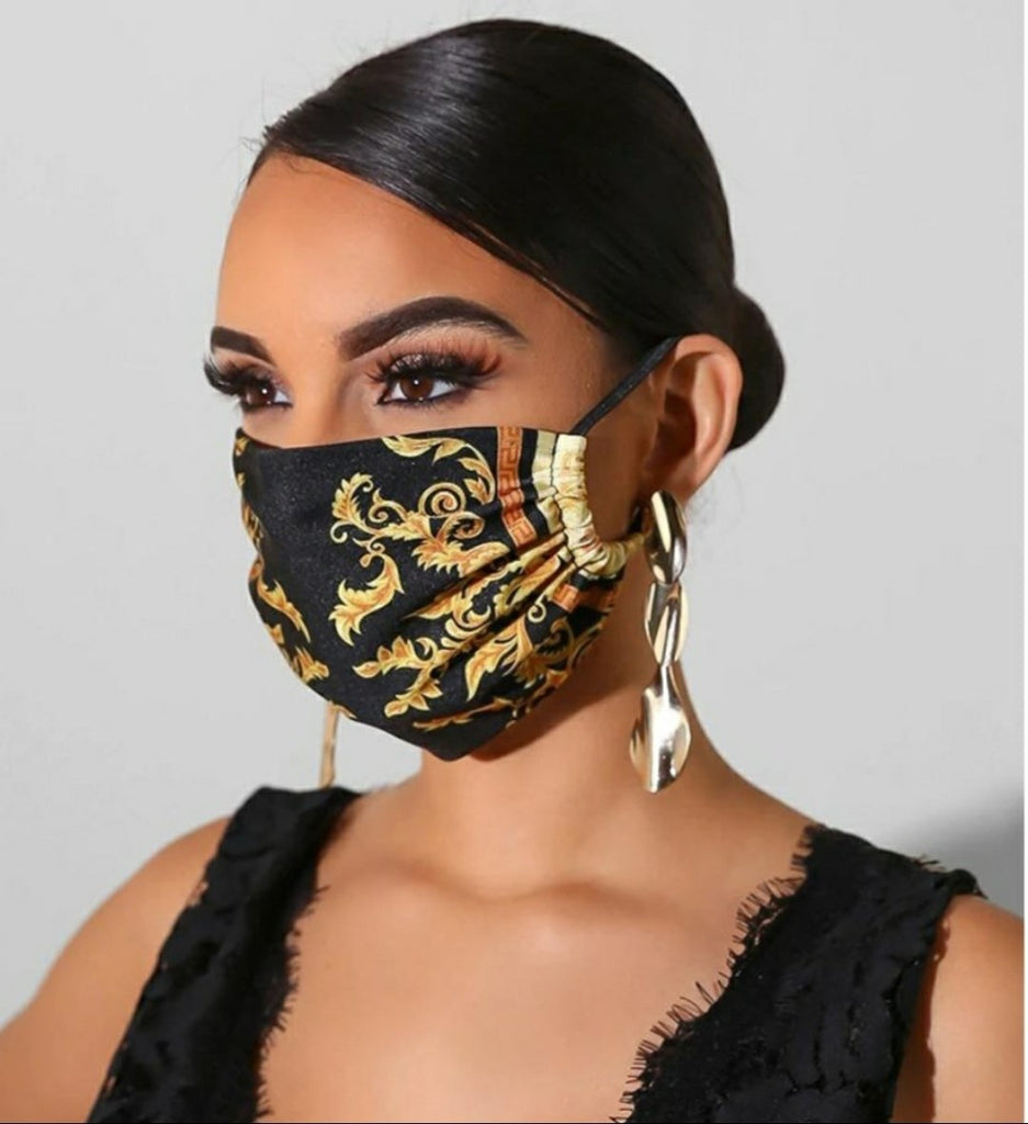 Italian Style Black / Gold Fashion Mask