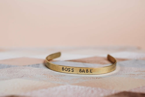 One+Beau Boss babe bracelet