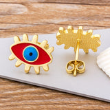 One+Beau Evil Eye Stud Earrings
