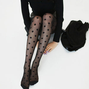 One+Beau Polka Dot Fashion Tights