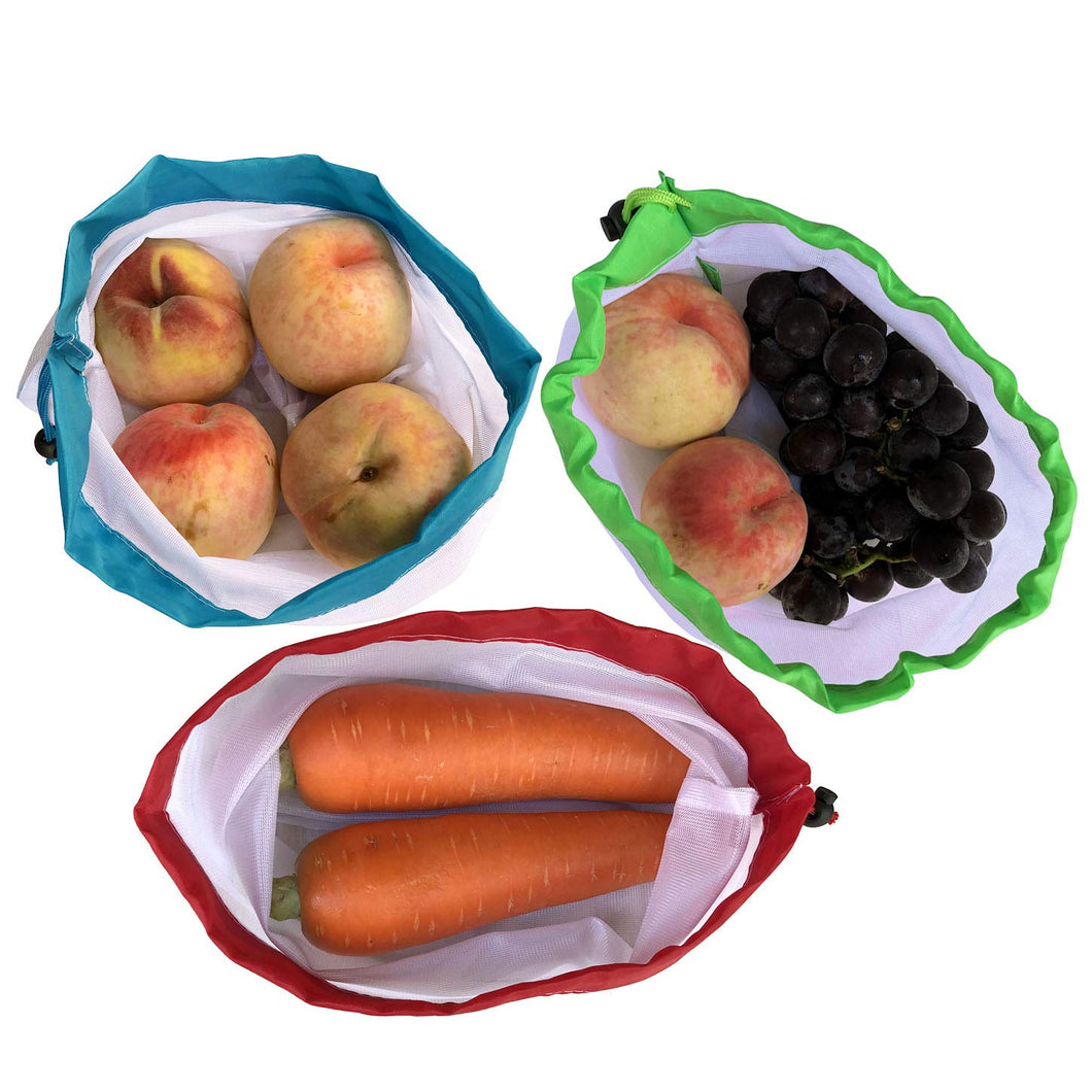 Eco-Friendly Reusable Mesh Produce Bags - Set of 12 - V Vault
