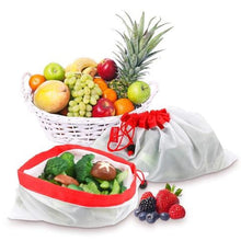 Load image into Gallery viewer, Eco-Friendly Reusable Mesh Produce Bags - Set of 12 - V Vault