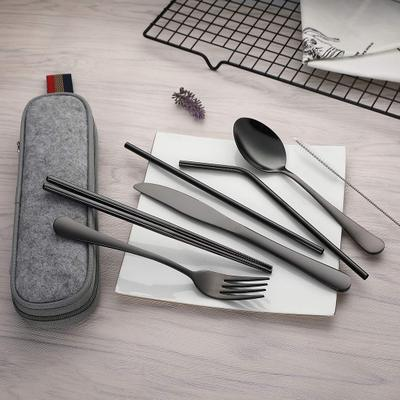 8Pcs Eco-Friendly Travel Cutlery Set - V Vault