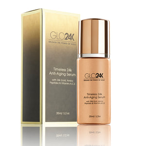 Incorporating the Timeless 24K Anti-Aging Serum into my skin care routine