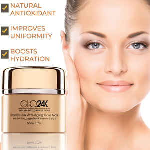 Timeless 24k Anti-Aging Gold Mask with 24k Gold, OxygenSkin & Vitamins C and E