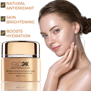 24K Brightening & Lightening Cream with 24k Gold, Turmeric & Vitamins A,C,E