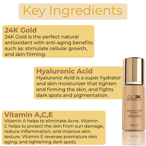 Rejuvenating 24k Eye Serum-with 24k Gold, Hyaluronic Acid & Rosehip Oil