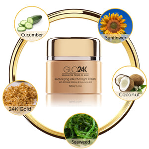 Recharging 24k PM Night Cream with 24k Gold, Retinol & Hyaluronic Acid