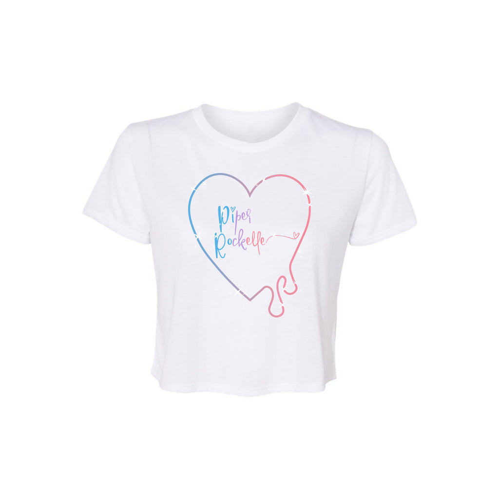 Drippy Heart Crop Tee