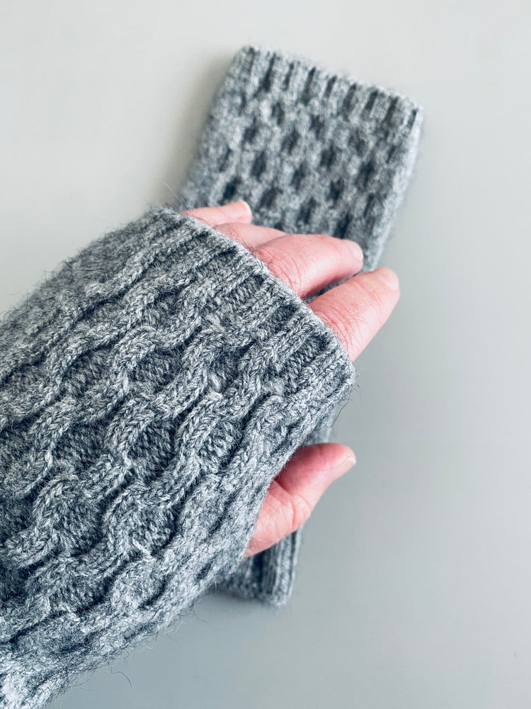 Wristwarmers: Possum & Merino Wool, Made in New Zealand
