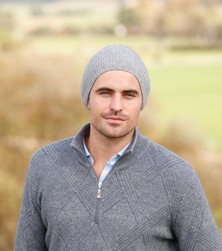 Slouchy Beanie - Made in New Zealand - soft, lightweight NZ merino wool and possum fur