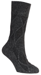 Load image into Gallery viewer, Cable Wool Socks: Merino Wool + Made in New Zealand