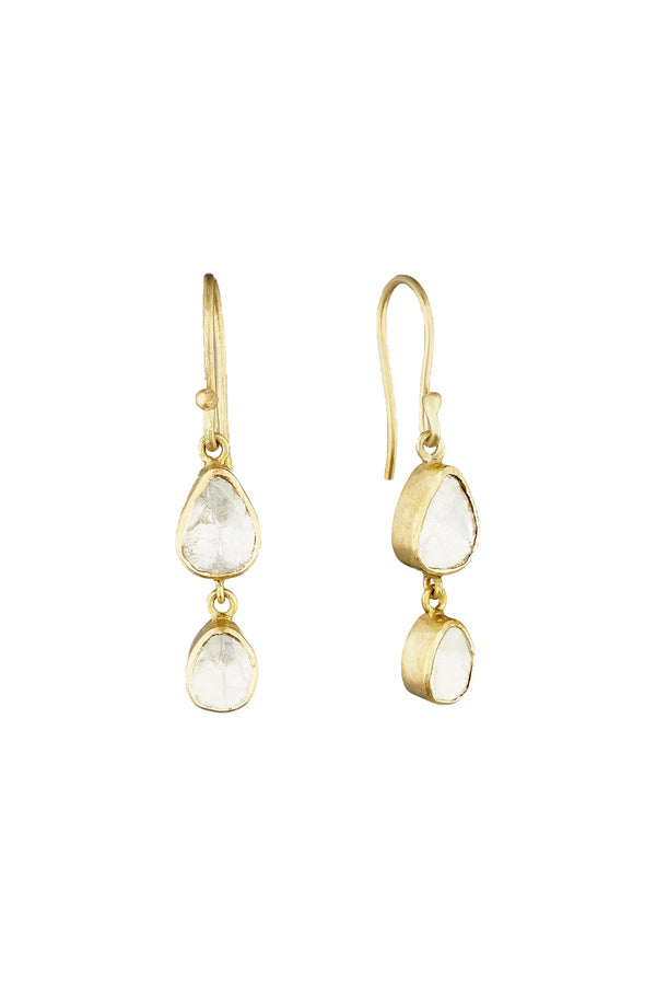Polki Diamond Drop Earrings